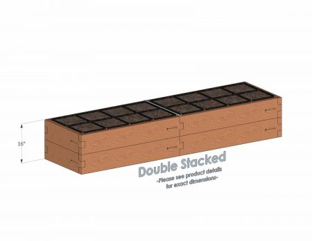 2x8 Raised Garden Kit Double Stacked - Stacked 2x8 Garden Beds include an aluminum cross strap to keep your garden bed walls perfectly straight.