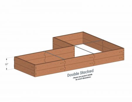 L Shaped Raised Garden Bed Double Stacked - With stacked L Shaped Garden Beds we include three aluminum cross straps to keep your garden bed walls perfectly straight.