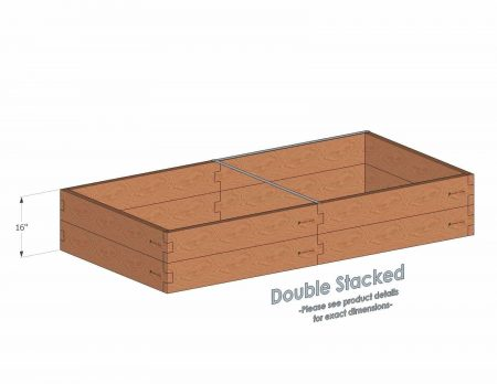 4x8 Cedar Raised Garden Bed Double Stacked - With stacked 4x8 Garden Beds we include an aluminum cross strap to keep your garden bed walls perfectly straight.