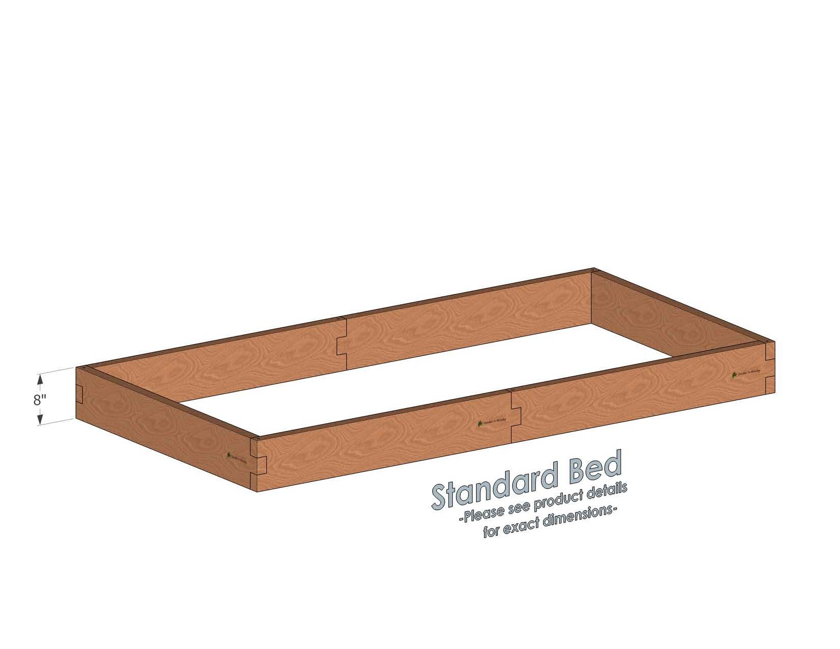 4x8 Cedar Raised Garden Bed Standard Height