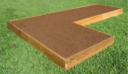 L Shaped Cedar Raised Garden Bed