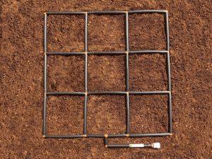 3x3 Garden Grid watering system
