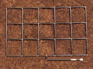 3x5 Garden Grid watering system