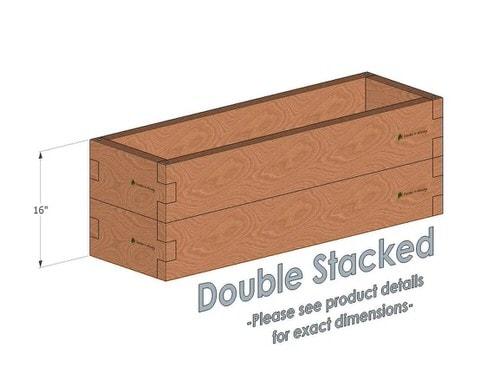 1x4 Cedar Raised Garden Bed Double Stacked