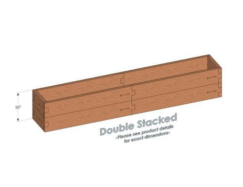 1x8 Cedar Raised Garden Bed Double Stacked - With stacked 1x8 Garden Beds we include an aluminum cross strap to keep your garden bed walls perfectly straight.