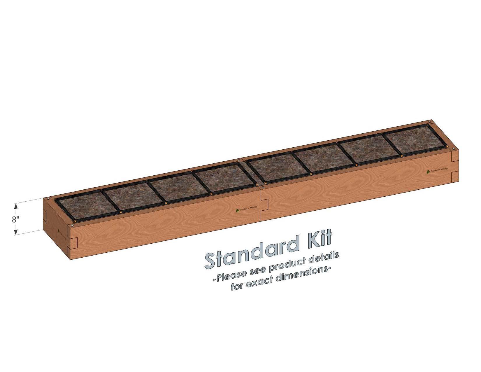 1x8 Raised Garden Kit Standard Height