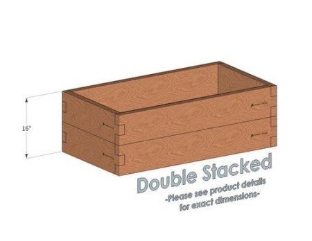 2x4 Cedar Raised Garden Bed Double Stacked