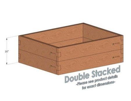 3x4 Cedar Raised Garden Bed Double Stacked
