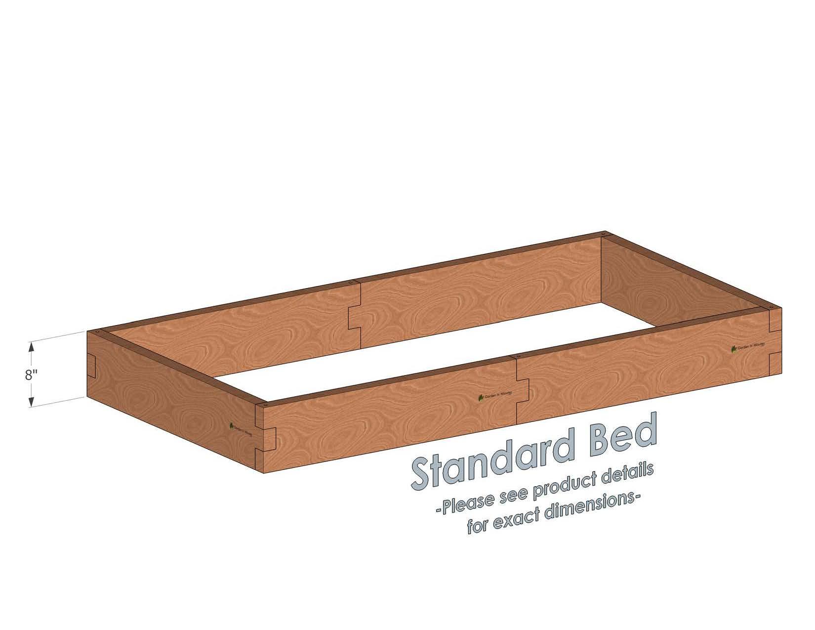 3x6 Cedar Raised Garden Bed Standard Height