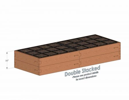 3x8 Raised Garden Kit Double Stacked - Stacked 3x8 Garden Beds include an aluminum cross strap to keep your garden bed walls perfectly straight.