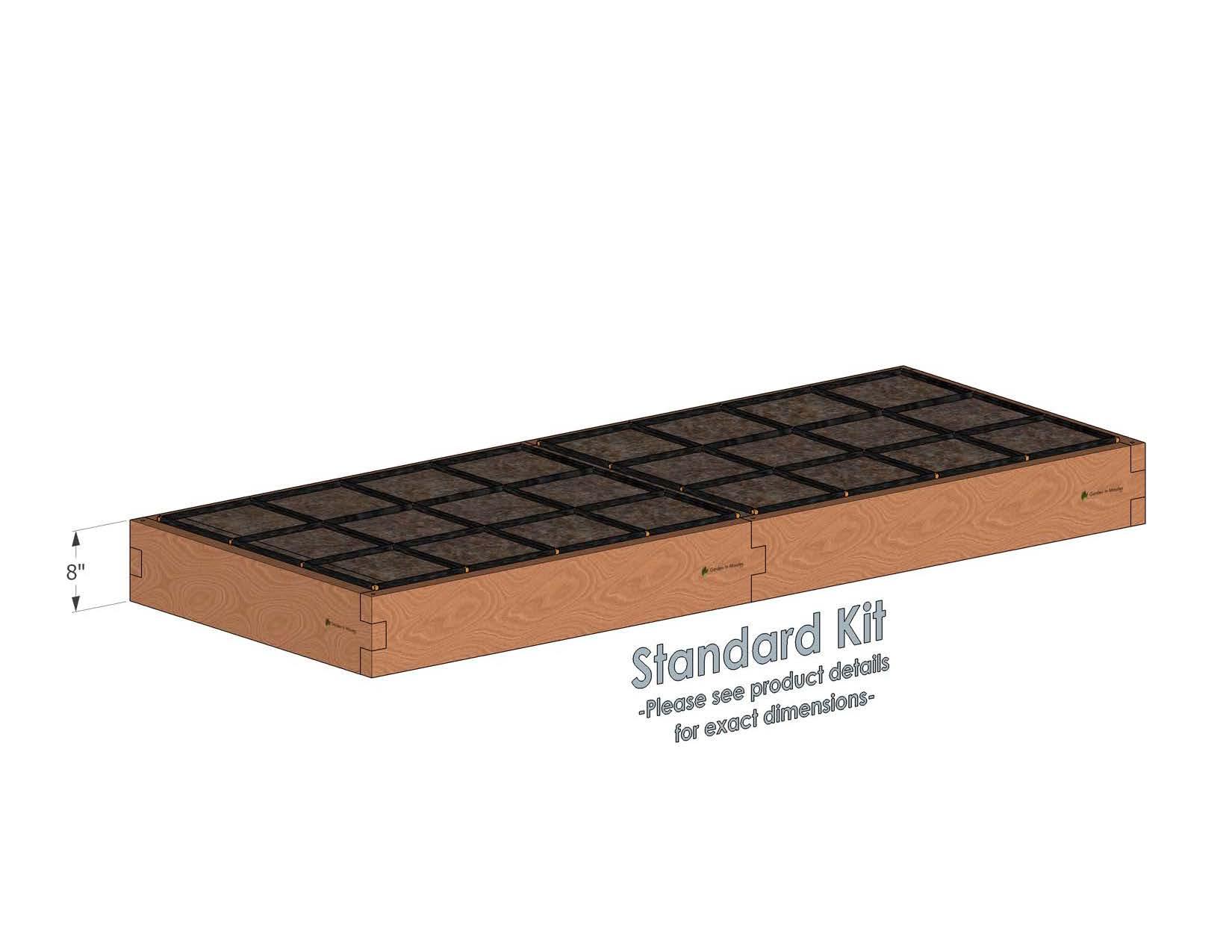 3x8 Raised Garden Kit Standard Height