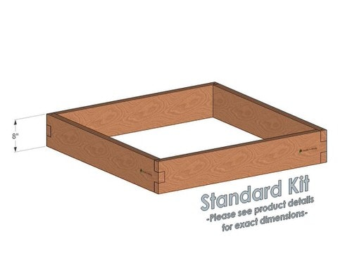 4x4 Cedar Raised Garden Bed Standard Height