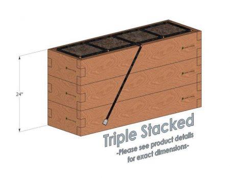 1x4 Cedar Raised Garden Kit Triple Stacked