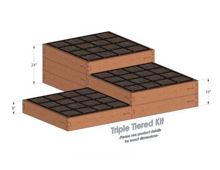 custom Multi-tiered raised garden kit