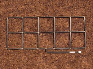 2x5 Garden Grid watering system
