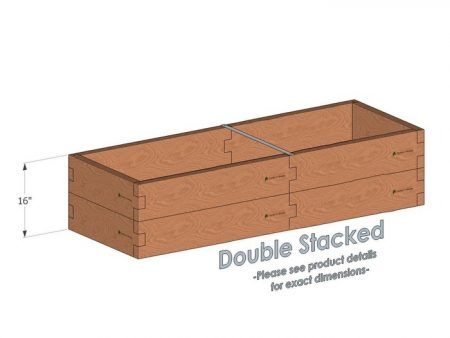2x6 Raised Garden Bed - Double Stacked